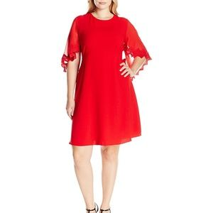 Taylor's Red Dress Caplet Embroidered Sleeve, 24W